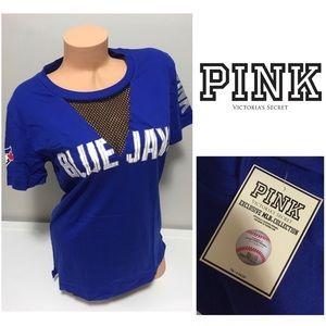 🆕VICTORIA'S SECRET PINK -BLUE JAYS CAMPUS MLB TEE